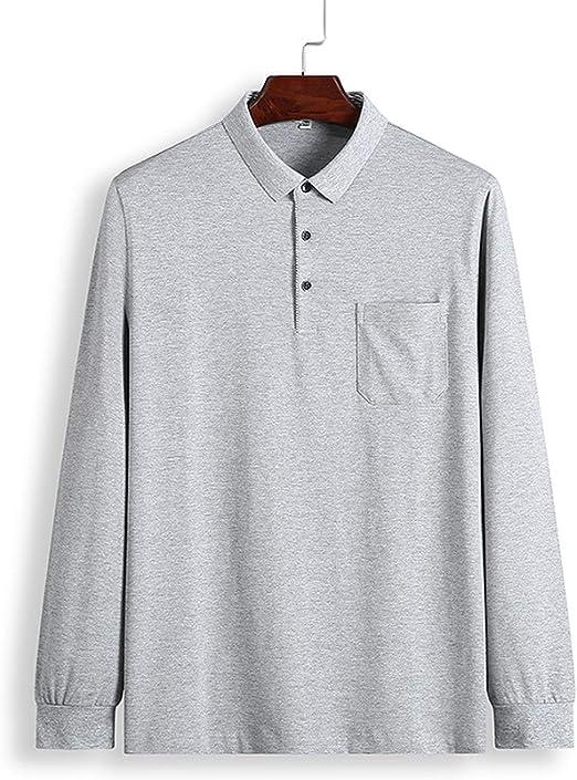 5XL Polo Shirt Collar Men Plus Size 3XL 4XL Autumn Button Brand Men Polo Shirt L