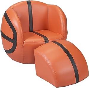 Gift Mark Chair and Ottoman, Basketball