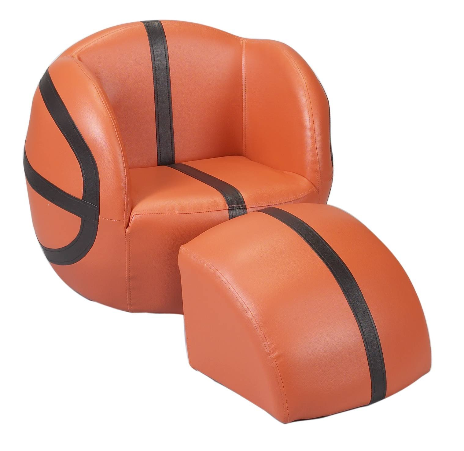 Gift Mark Chair and Ottoman, Basketball