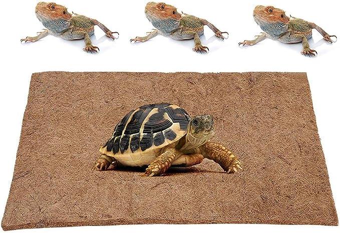 Alfombra de reptiles GZGZADMC, transpirable, resistente a la corrosión, fibra de coco natural, apto para reptiles, serpientes, tortugas, lagartijas e insectos, 50 x 30 cm: Amazon.es: Productos para mascotas