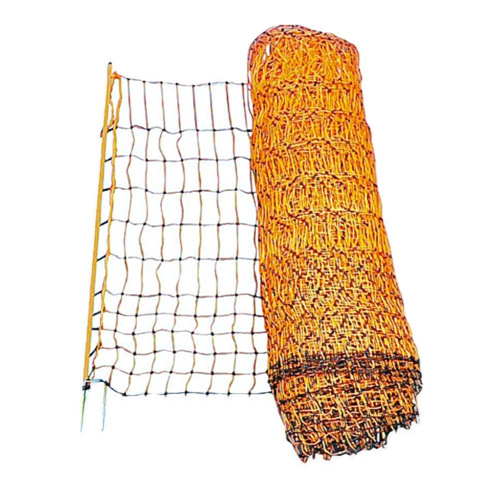 Geflügelnetz PoultryNet orange elektrifizierbar Höhe 112 cm verstärkte Oberlitze