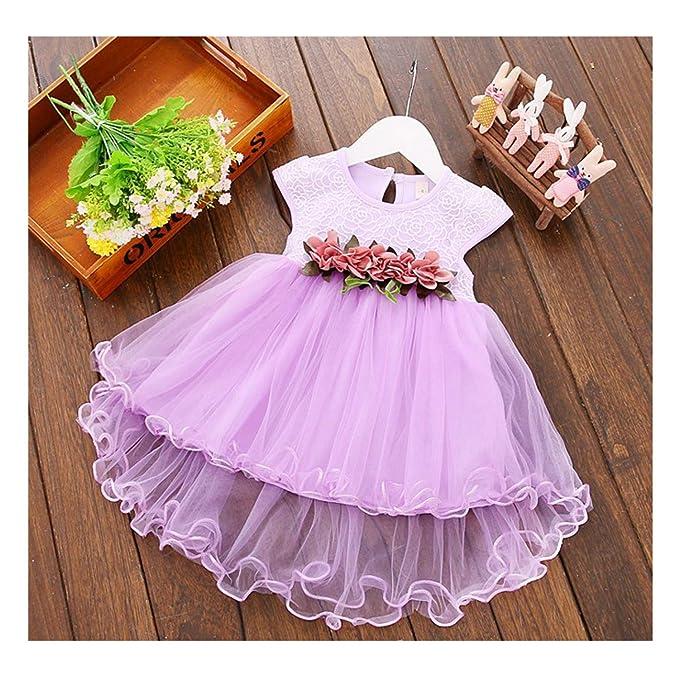 Amazon.com: TTMOW Vestido para bebé, diseño floral, sin ...