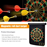 KAOLELE Magnetic Dart Board with 24pcs Dart Flights for Kids and Adults, It's a Safe Dartboard for Kids and Wall, Office Home Outdoor Board Games, Boys Toys Age 5-7 Brithday Present for 7-10 Year Old