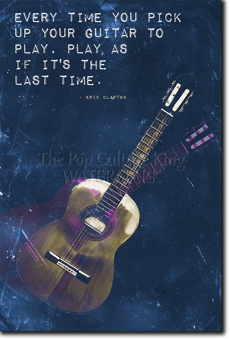 Guitar Motivation 07 ''Every time you pick up your guitar...'' Poster Photo Print - Learn Music Electric - Motivational Quote Inspiration es - Size: 36 x 24 Inches (HUGE) - 91 x 60 cm