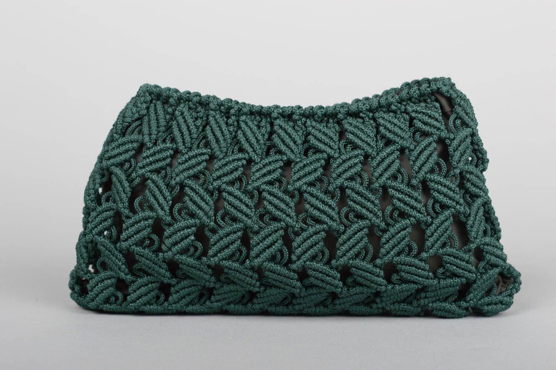 Mano Made Mujer Neceser macramé funda regalo para mujer verde oscuro: Amazon.es: Hogar