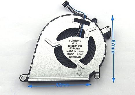 Ventilador de CPU Cooler para para HP Omen 15-ax030tx 15 ...