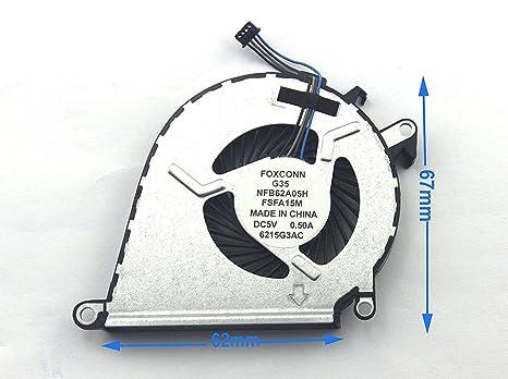 Ventilador de refrigeraci/ón para Ordenador port/átil HP OMEN 15-AX TPN-Q173 15-BCS 15-BC013TX BC015TX huiouer