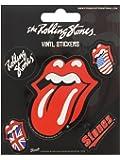 Rolling Stones Juego de 5 pegatinas de vinilo