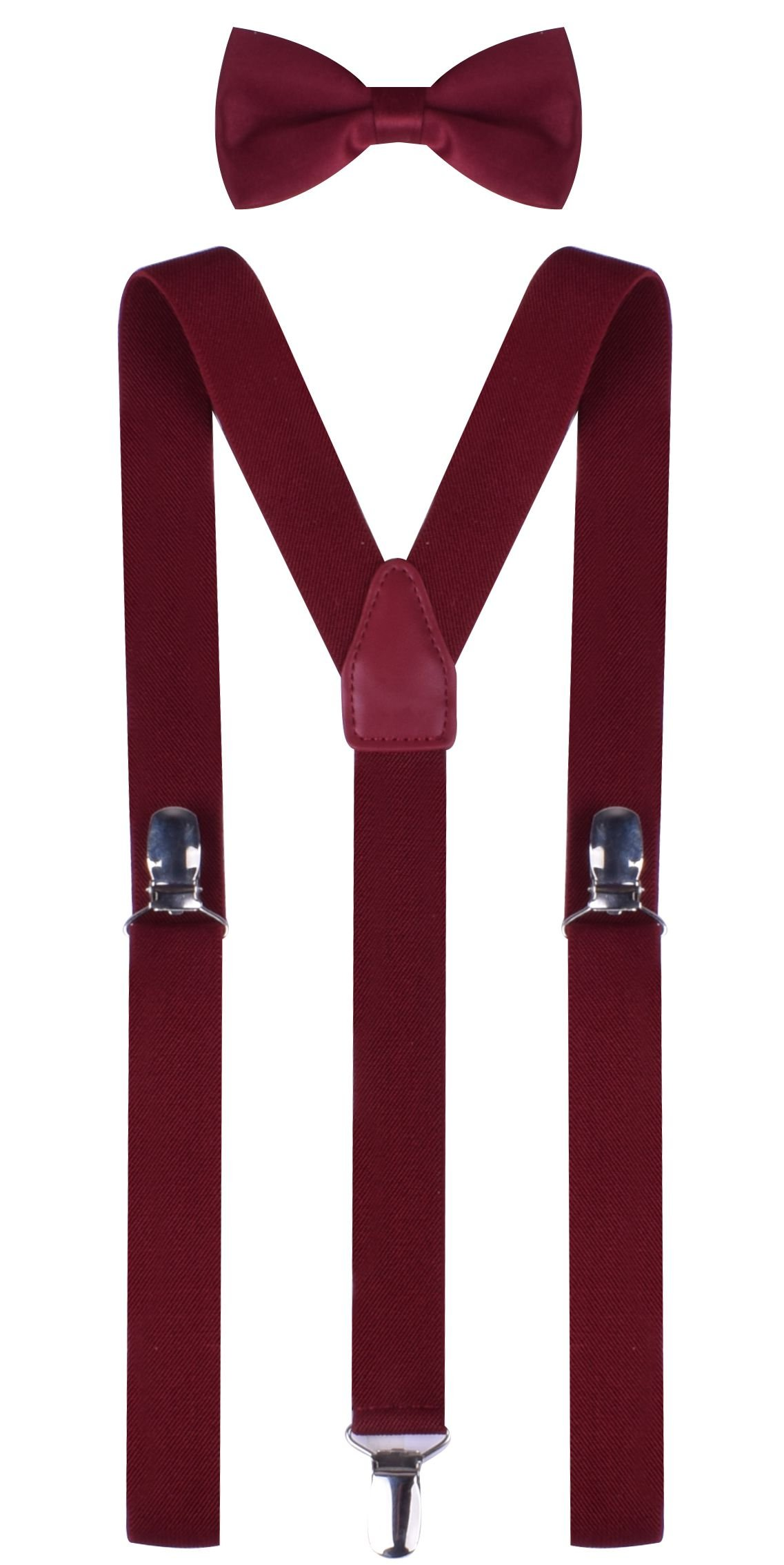 kids boys bow tie and adjustable suspenders set for child