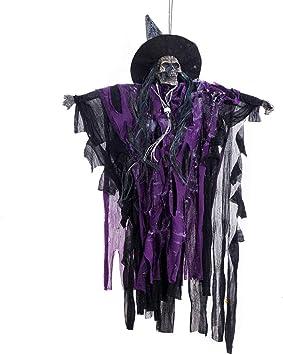Juego de decoración de Halloween con Poste Negro Activado por el Fantasma Colgante Lugar Fantasma Colgante Colgante Fantasmas Brillantes Zz0116 (Color: púrpura) ToGames: Amazon.es: Juguetes y juegos