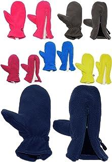 alles-meine.de GmbH Fausthandschuhe - Fleece - mit Reißverschluß - Größe: 1 bis 2 Jahre -  dunkelblau  - LEICHT anzuziehen ! mit Daumen - Fleecehandschuhe / Kinder & Babyhandsc..