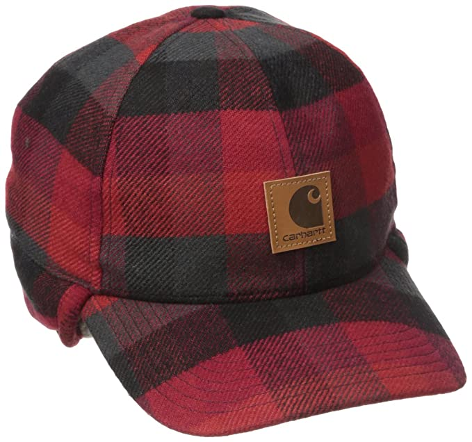 1fb8d8667fe Carhartt Men s Timberville Plaid Ear Flap Cap
