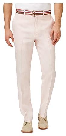 ba2623099d RALPH LAUREN Lauren by Men s Solid Linen Flat Front Dress Pants (36x32