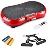 Vibration Platform Exercise Machine, Whole Body Vibration Fitness Plate with Remote Control and Resistance Bands for Weight L