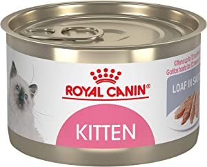 Royal Canin Feline Health Nutrition Kitten Loaf in Sauce Canned Cat Food, 5.1 oz Can (Pack of 24)