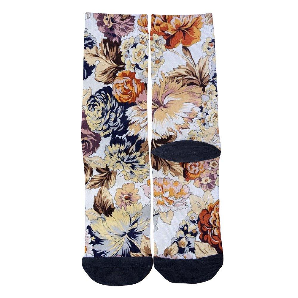 EveninSky Mens Womens Custom Peonys Creative Casual Crew Socks