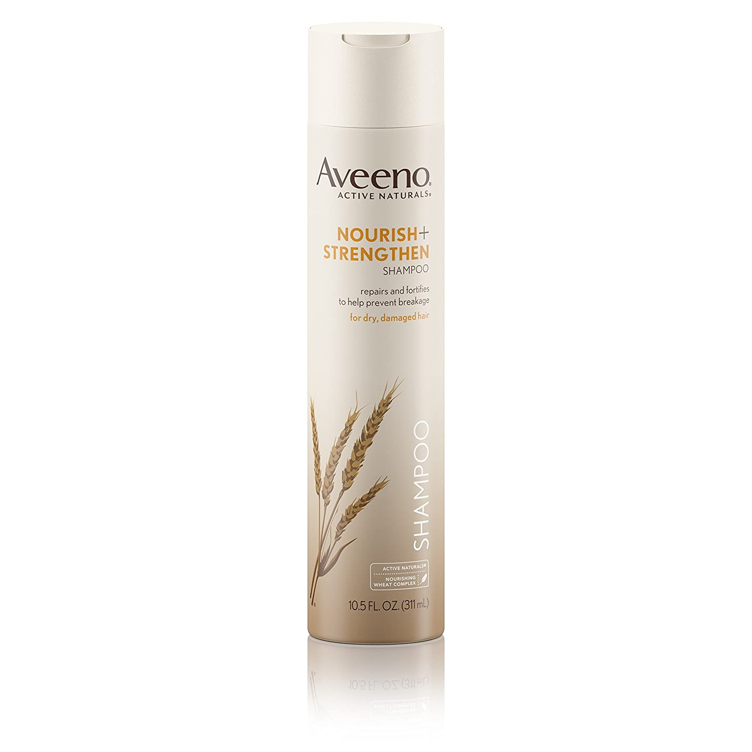 Aveeno Nourish+ Strengthen Shampoo For Damaged Hair, 10.5 Fl. Oz, pack 0f 2