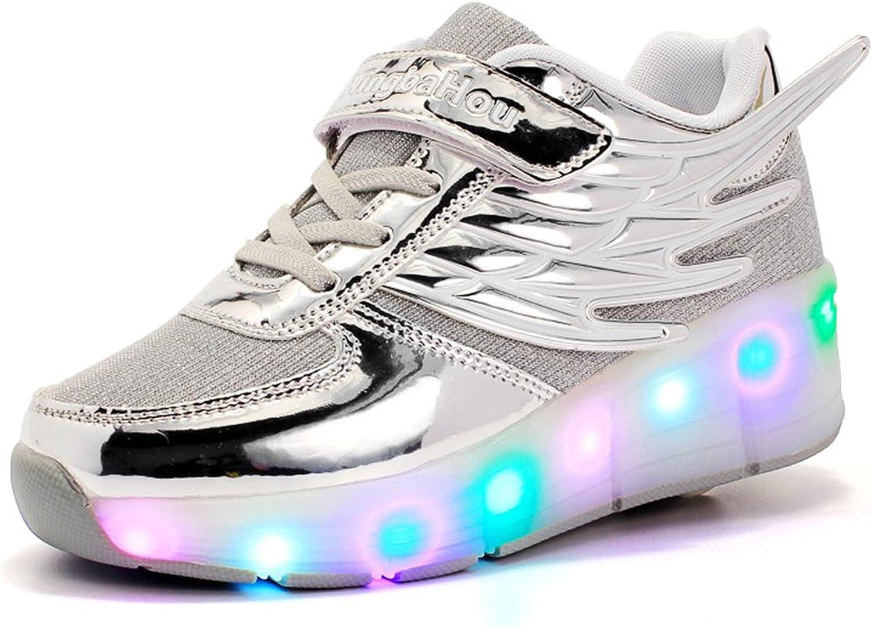 Mr.ANG luces LED parpadeantes Roller Skates – Zapatos de deporte ...