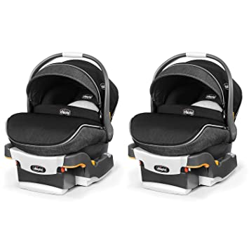 Chicco KeyFit 30 Zip Infant Car Seat With Base And Zipping Canopy 2 Pack