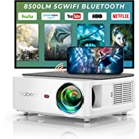 YABER WiFi Bluetooth 5G beamer 8500 lumen Full HD 1080P thuisbioscoop beamer, met 4-punts trapeziumcorrectie…