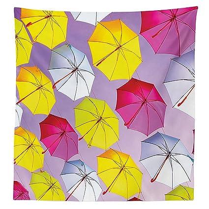 Apartamento Decor Mantel Circular redondo formado romántico Color paraguas sombrillas en aire motivación fotográfico comedor cocina