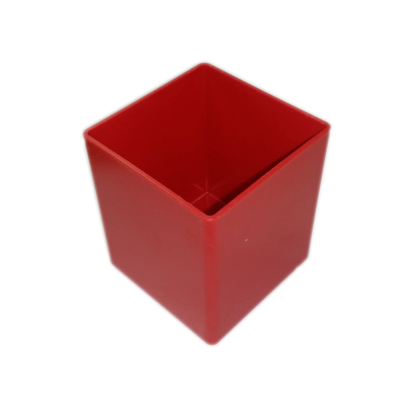 Vaschetta porta minuterie 54x54 H63 mm Hitachi contenitore rosso in PP