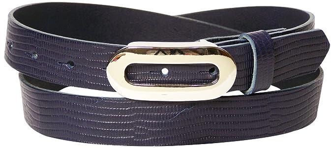 Fronhofer Fine ceinture pour femme 2,5 cm ceinture imprimé peau de serpent  boucle ovale 0e88c3b4a47