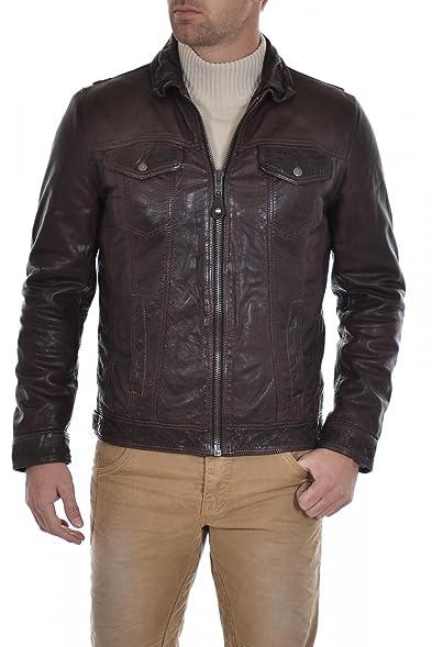 Mens Schott LC5120X Brown Leather Jacket - XXXL: Amazon.co.uk ...