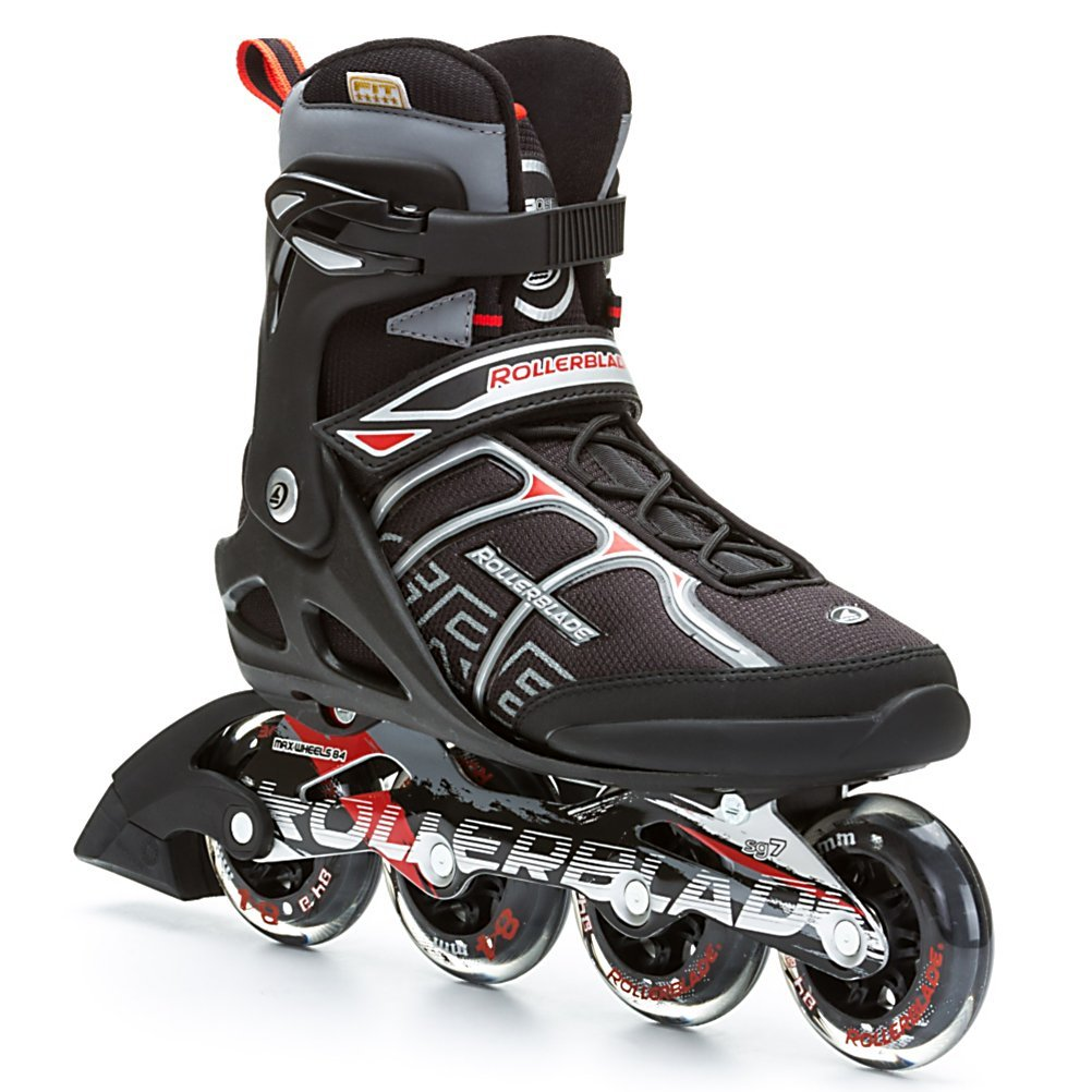 Rollerblade Men's Macroblade 84ALU Skate, Black/Red, 7.5
