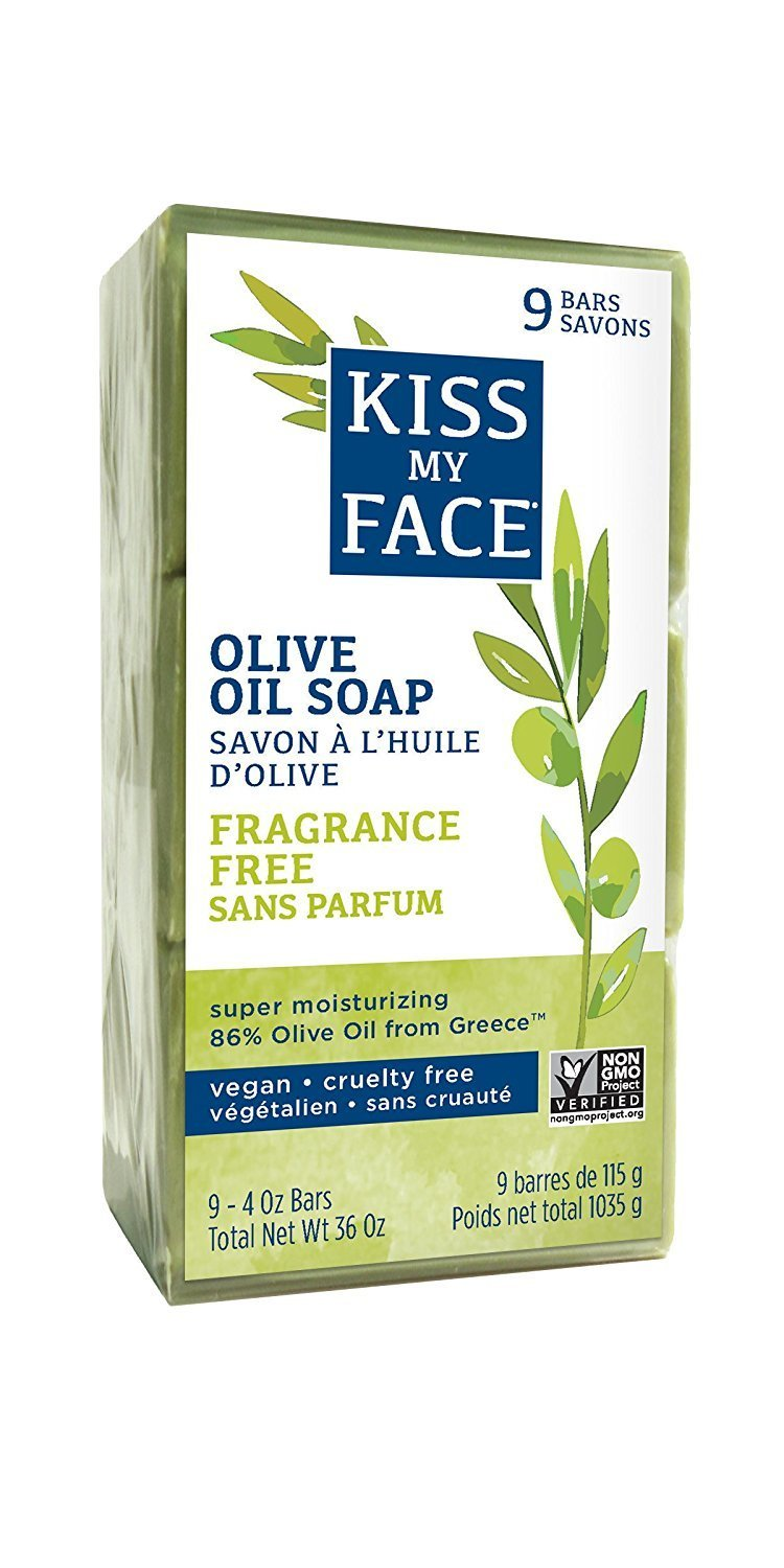 Kiss My Face Pure Olive Oil Bar Soap 4 Oz 3 Count for sale
