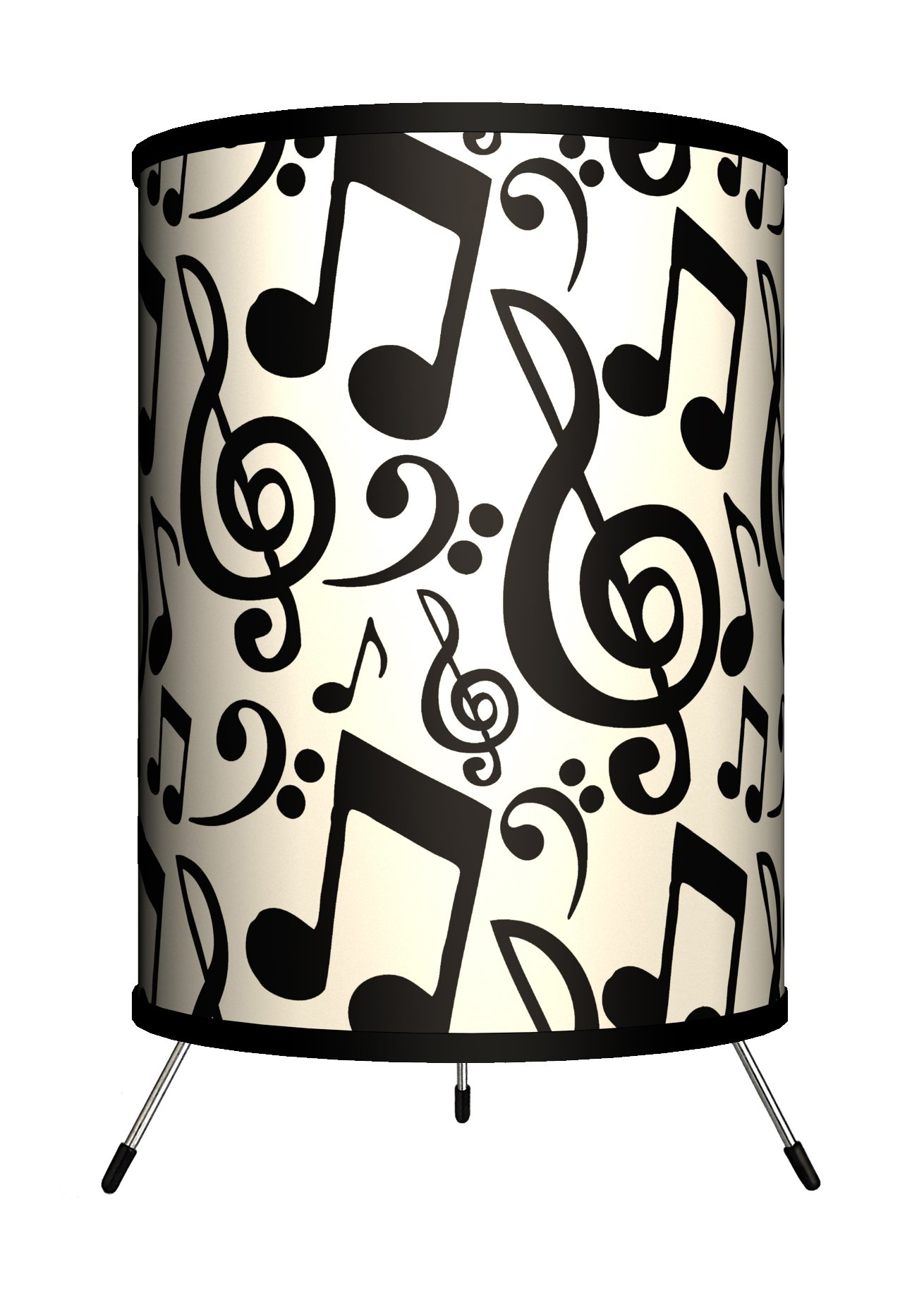 Lamp-In-A-Box TRI-MUS-NOTAT Music - Musical Notation Tripod Lamp, 8'' x 8'' x 14''