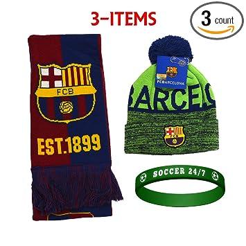 Amazon.com: FC Barcelona FCB Barcelona - Juego de gorro y ...