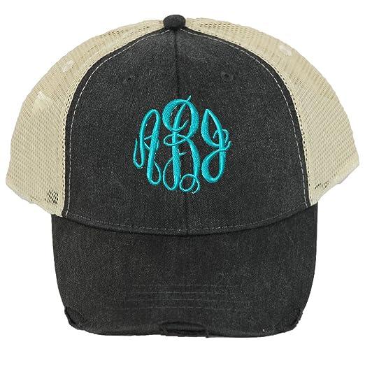 LD Bags Distressed Trucker Hats Unisex Design (Black) at Amazon ... 6268bc02e36