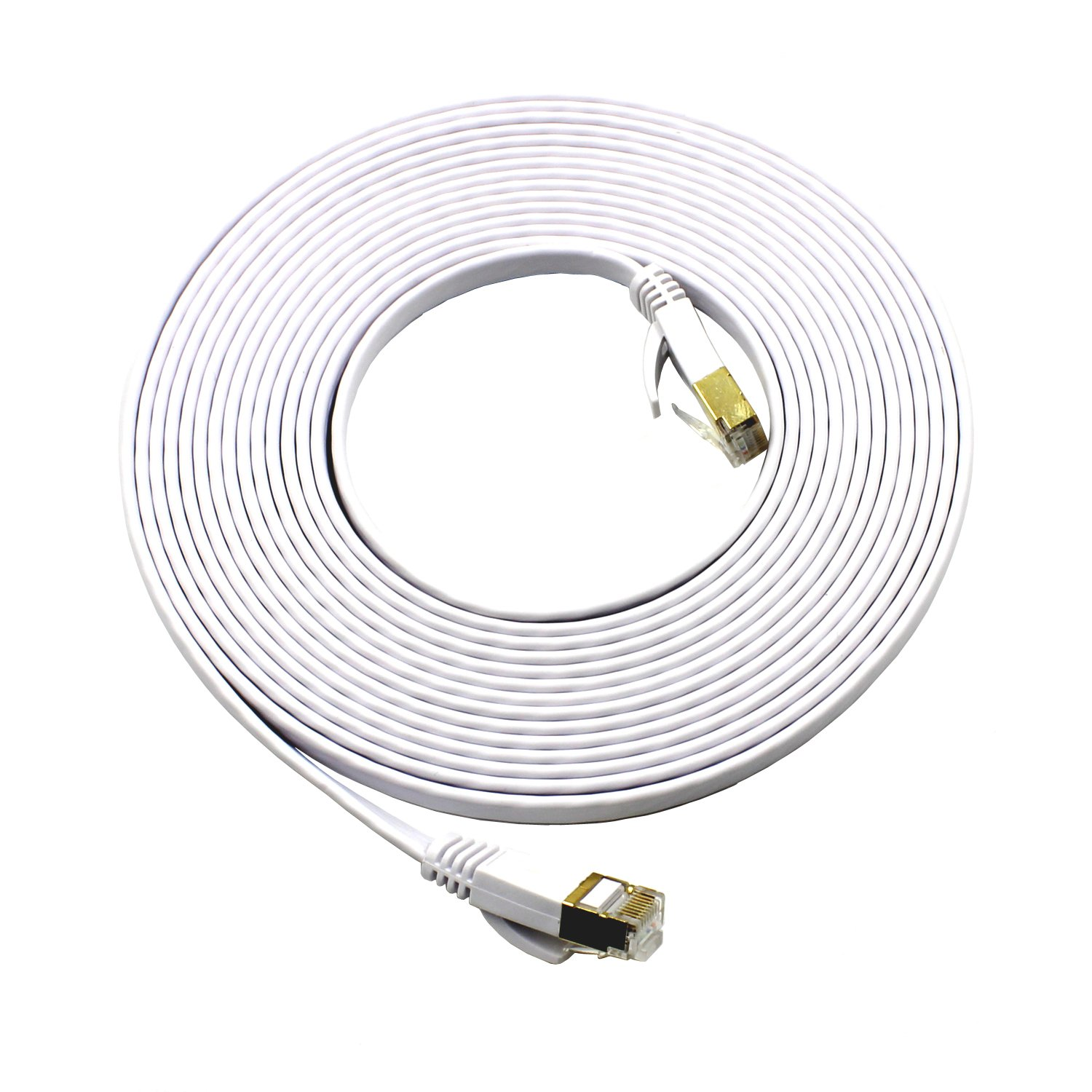 amazon mcsher cat7 ethernet patch network cable shielded stp Shielded Cat5e Connectors amazon mcsher cat7 ethernet patch network cable shielded stp copper lan internet wire with gold plated rj45 connectors white 16ft puters
