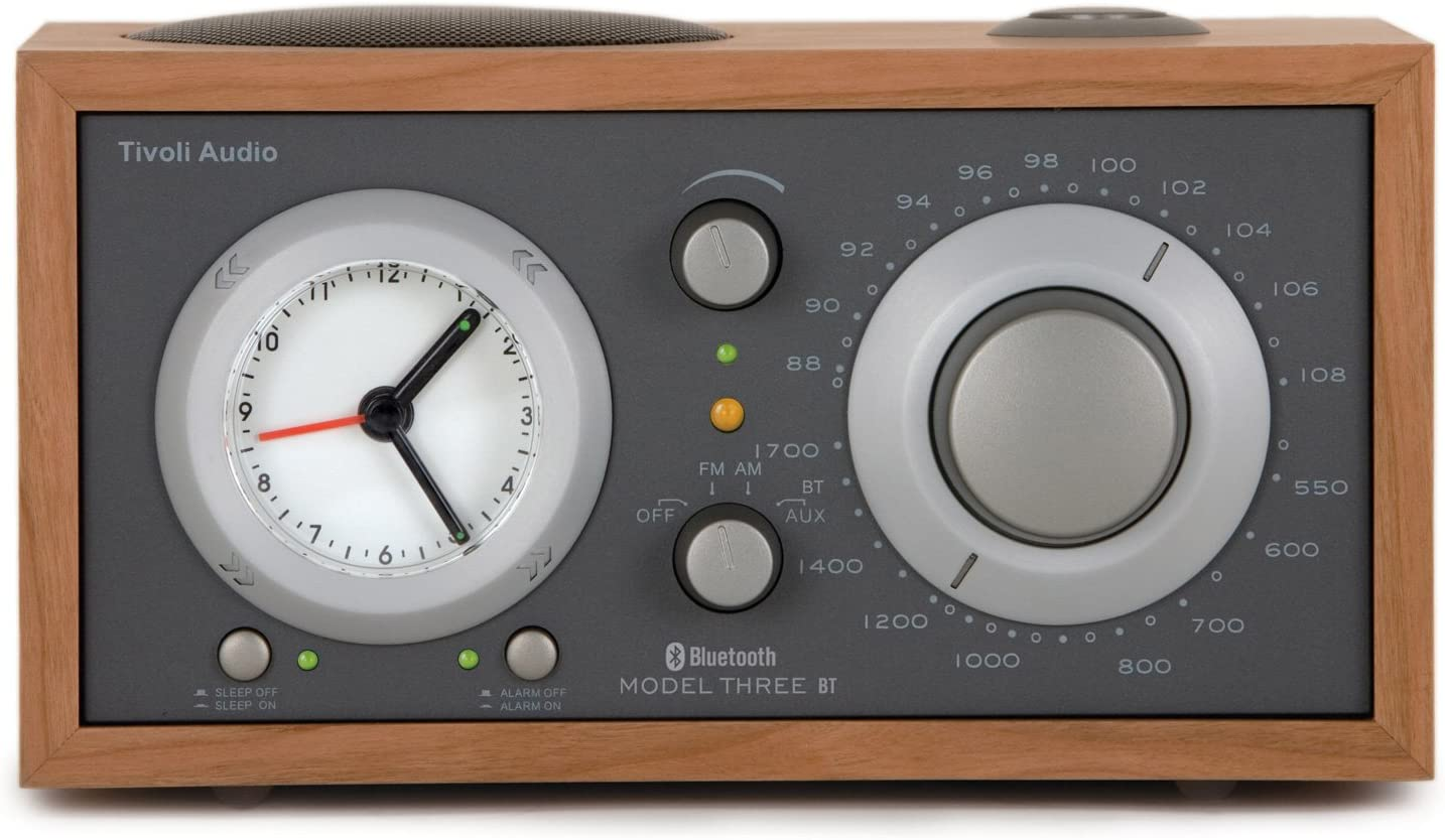 Tivoli Model Three Bluetooth Ukw Mw Radiowecker In Kirsche Taupe Audio Hifi