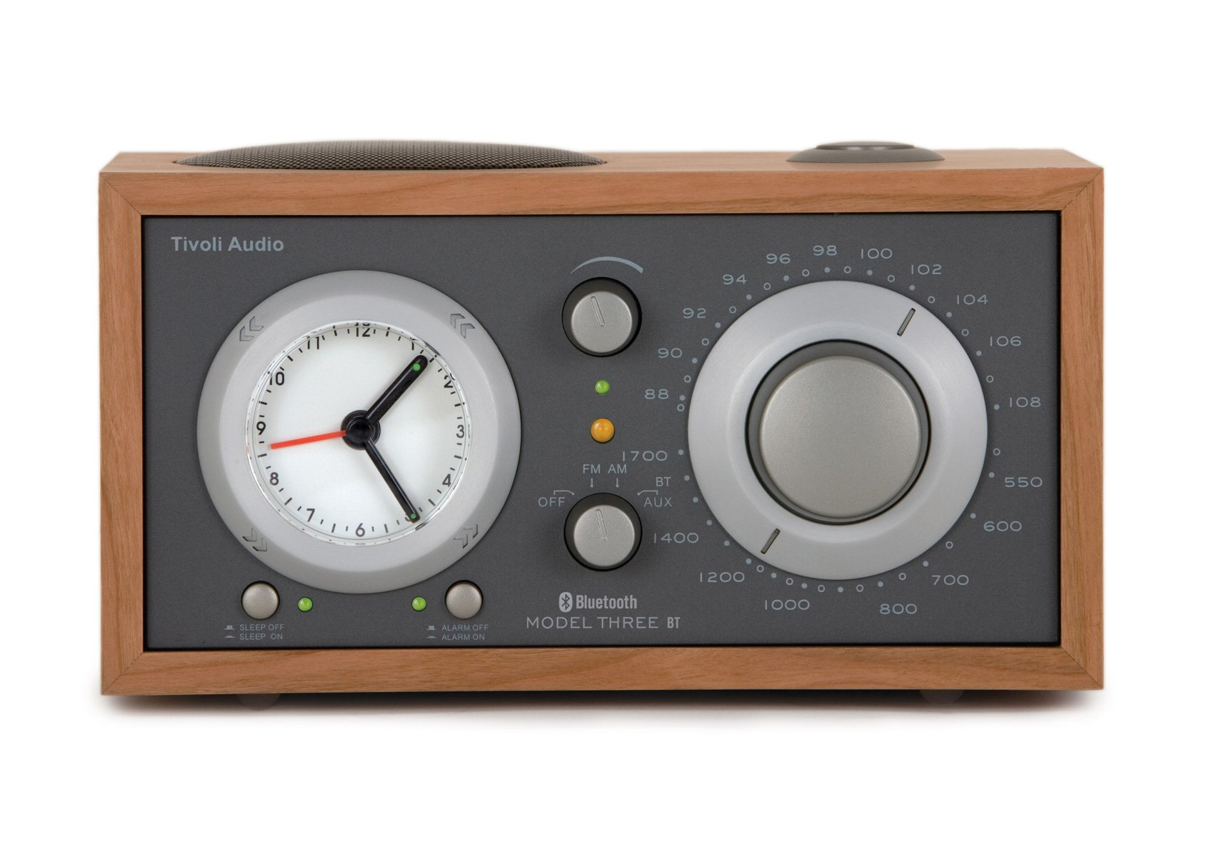 Tivoli Audio Model Three BT AM/FM/Bluetooth Clock Radio - Cherry/Metallic Taupe