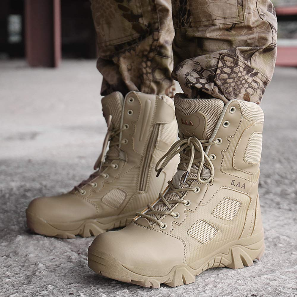 QIKAI Stivali Militari Stivali Militari Da Allenamento Antiscivolo Da Da Da Uomo Del Deserto Con Scarponi Da Alpinismo Da Alpinismo c826da