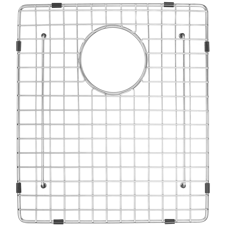 Serene Valley Sink Grid 14-1/2'' x 16-1/2'', Rear Drain with Corner Radius R 3/16'', NDG1519 by Serene Valley