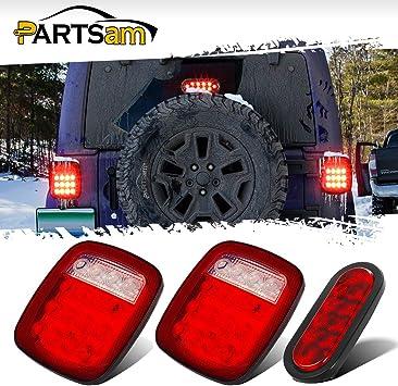 2x 16LED Brake Stop Turn Tail License Light for Jeep Wrangler JK TJ YJ Truck