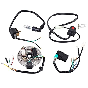 71bp60Sy NL._SY355_ amazon com jcmoto wire harness wiring loom cdi coil magneto Pit Bike Racing Rules at gsmportal.co