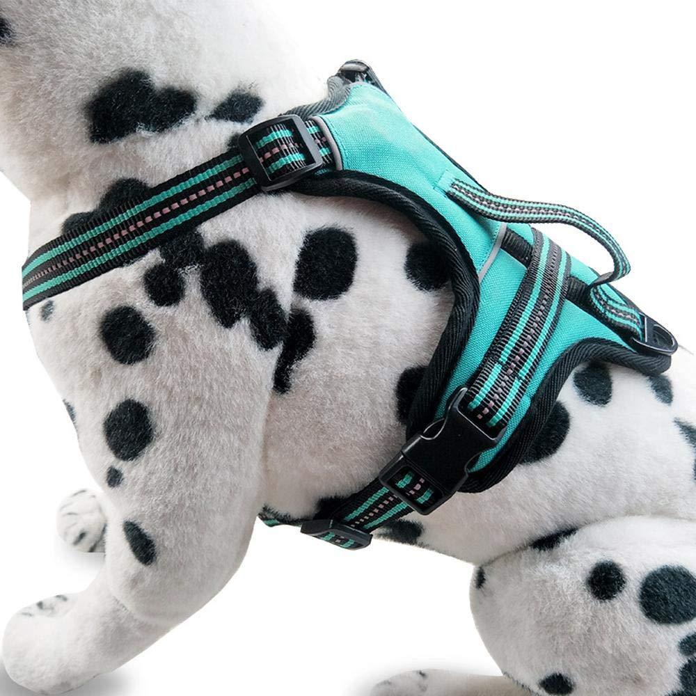 A L A L QJKai Dog Explosion-Proof Reflective Reflective Chest Strap Traction Rope Dog Chain pet Supplies