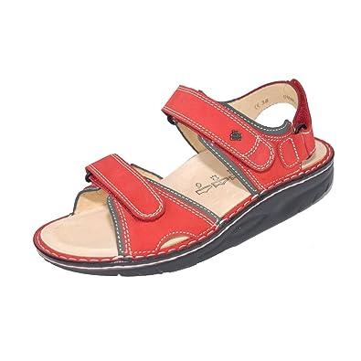 Finn Comfort Unisex Yuma Red/Street Patagonia Sandal