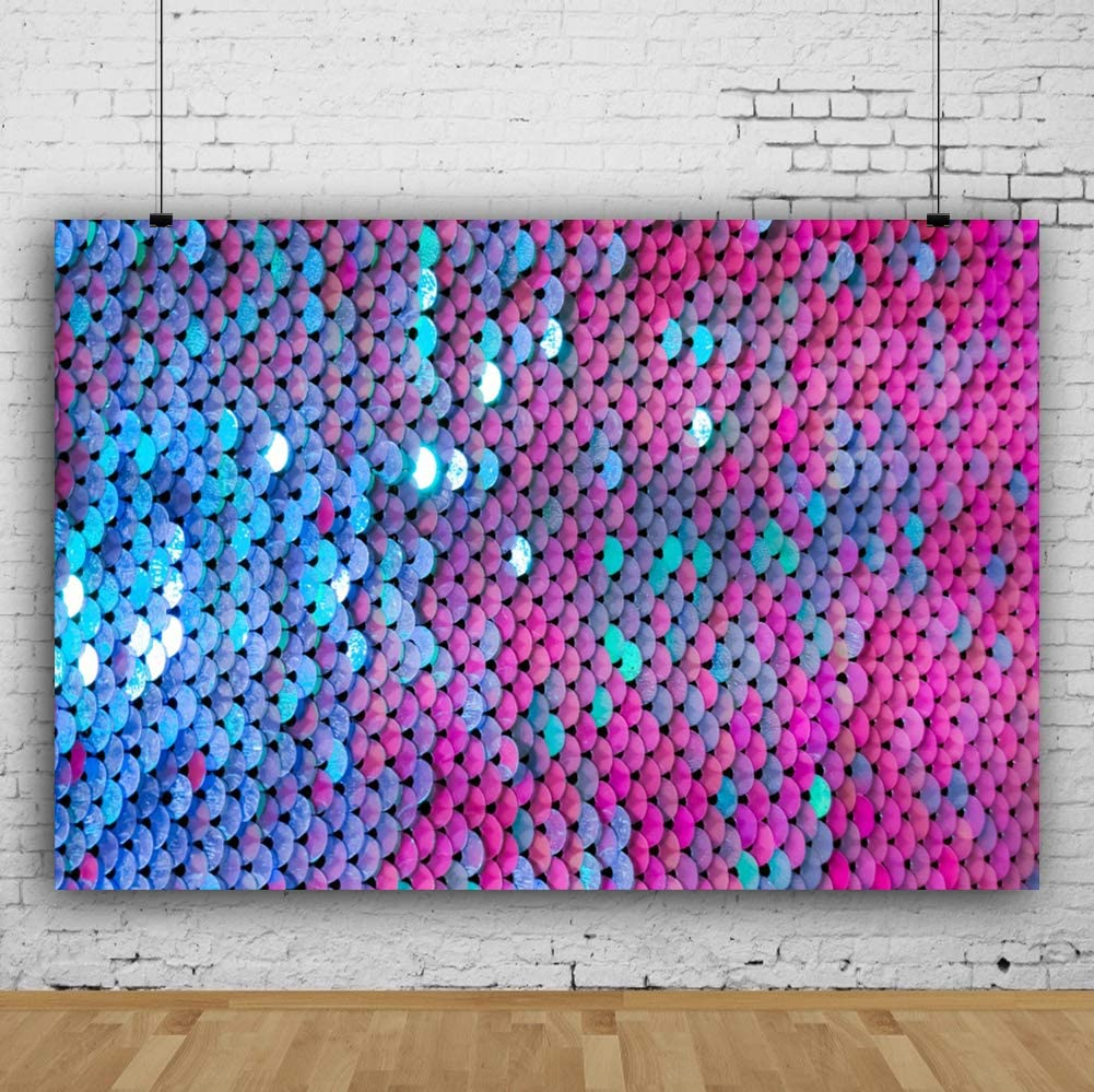 Leyiyi Colorful Defocus Sparkling Sequins Backdrop 15x10ft Photography Backdrop Children Baby Girl 70s 80s 90s Party Backdrop Photo Booth Props
