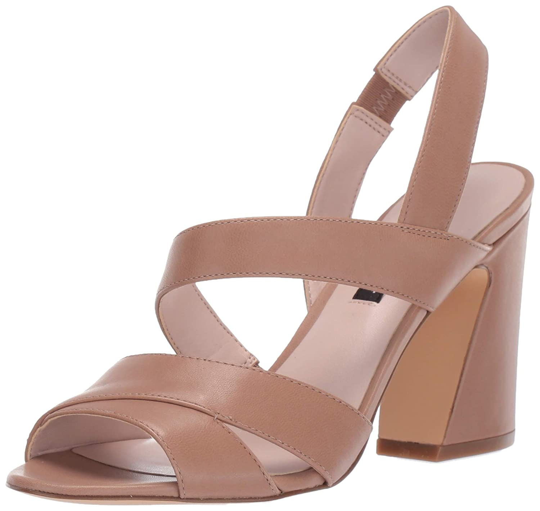 Latte Nine West Womens Nohemi Heeled Sandal