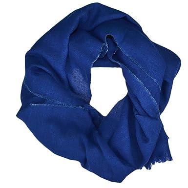 Ralph Lauren Echarpe luxueuse bleu en lin et laine pour homme  Amazon.fr   Vêtements et accessoires f13060d0562