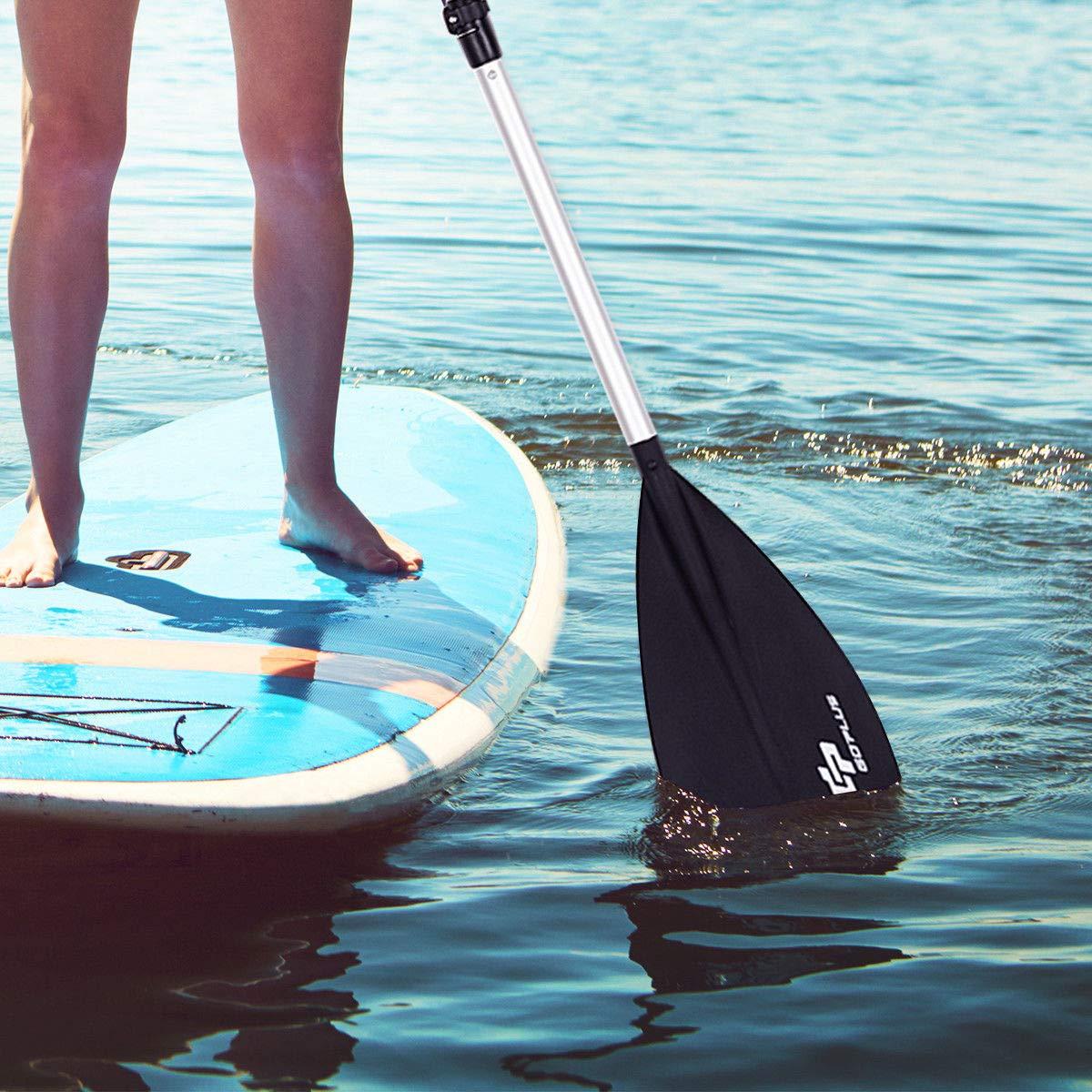 Amazon.com : Goplus Adjustable Surf & SUP Paddle 3-Piece Aluminum Alloy Stand Up Paddleboard Paddle Blcak : Sports & Outdoors