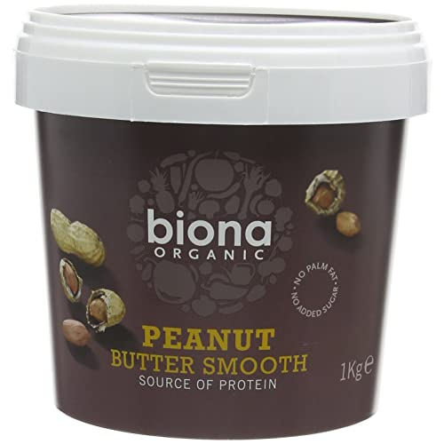 BIONA Organic Peanut Butter Smooth 1kg (PACK OF 2)