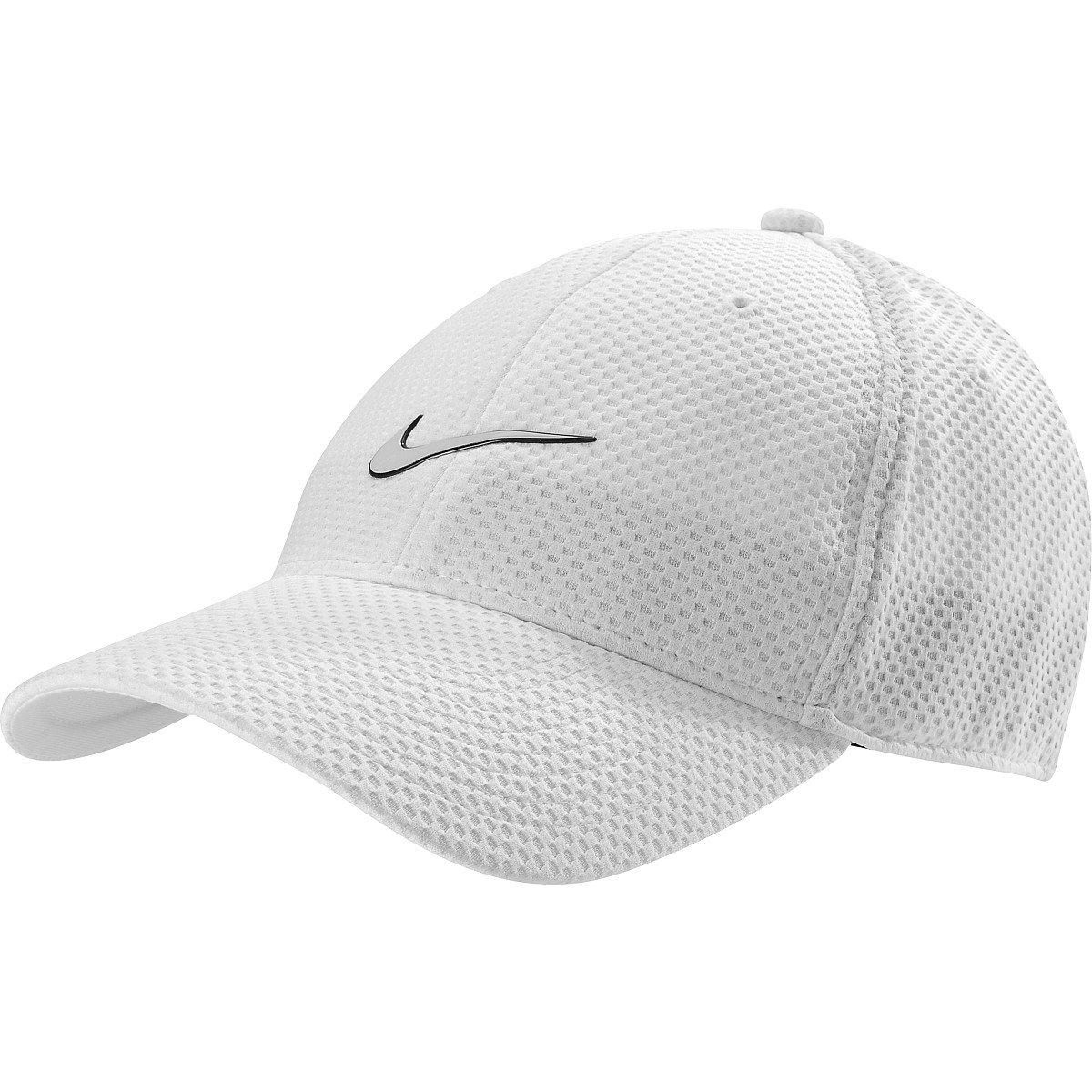 cbe19ee65 Mens Nike Heritage Dri-Fit Mesh Adjustable Hat White/Black 480387 ...