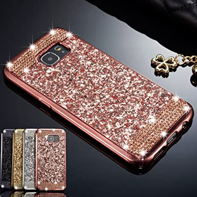 Zcdaye Case For Samsung Galaxy S6bling Glitter Crystal Rhinestone Diamond Soft Tpu Rubber Silicone Electroplating Edge Shockproof Cover For