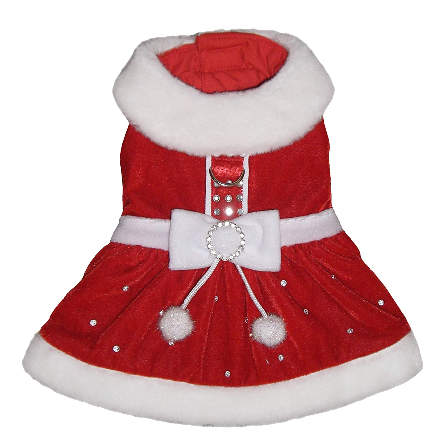 L Pooch Outfitters PSPP-L Santa Paws Dress, Red Large